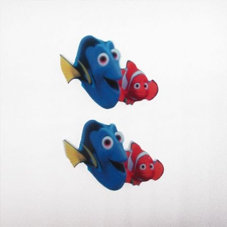 5 X 50MM DORY + NEMO FROM FINDING NEMO LASER CUT FLAT BACK RESIN HEADBANDS HAIR BOWS